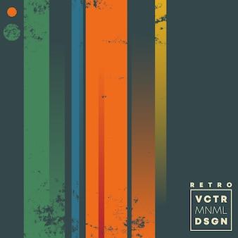 Retro wzór tła z rocznika grunge tekstury i kolorowe linie. ilustracja wektorowa.