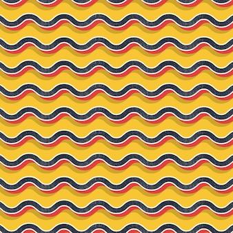 Retro wzór zygzak, abstrakcyjne tło geometryczne w stylu lat 80-tych, 90-tych. geometryczna prosta ilustracja
