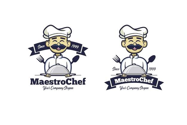 Retro young chef