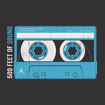 Retro z kasetą magnetofonową.