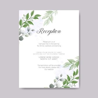 Retro zaproszenia ślubne z pięknym kwiatowym