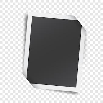 Retro zdjęcie na białym tle