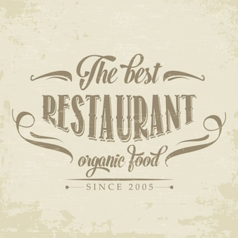 Retro żywność ekologiczna restauracja plakat