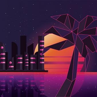 Retrofilm wyspy z palmami