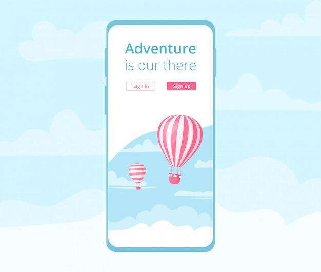 Rezerwacja aplikacji mobilnej z balonem