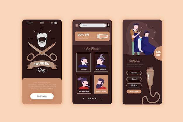Rezerwacja aplikacji na telefon komórkowy dla fryzjera