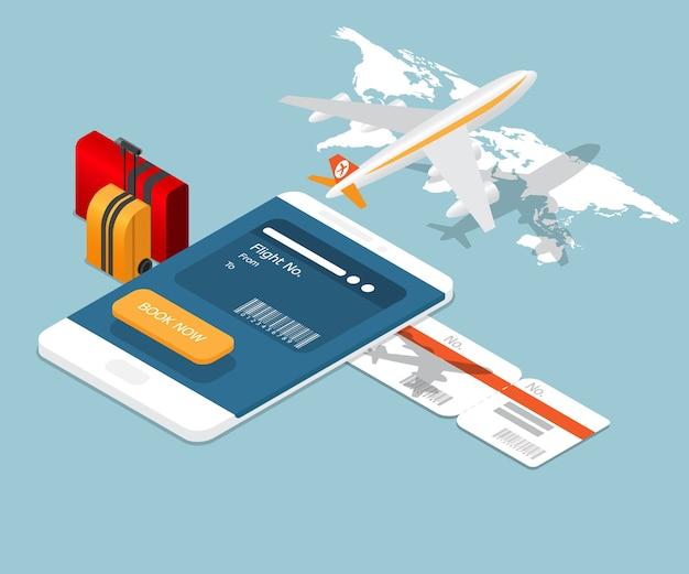Rezerwacja biletów lotniczych na smartfonie