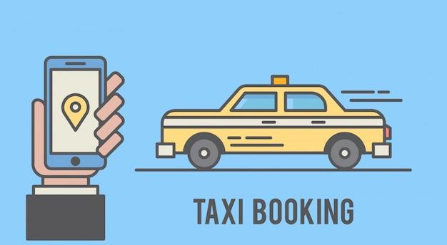 Rezerwacja taksówki za pomocą telefonu komórkowego