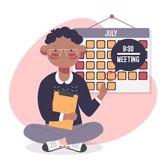 Rezerwacja terminu z kalendarzem i osobą