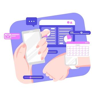 Rezerwacja terminu ze smartfonem