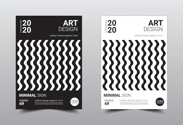 Rezerwuj kreatywny minimalny szablon.