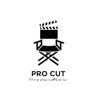 Reżyser cięcie za sceną montażową projekt logo studio movie film production