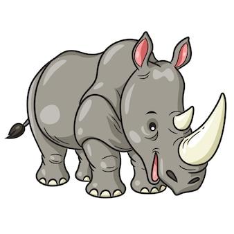 Rhino cute cartoon