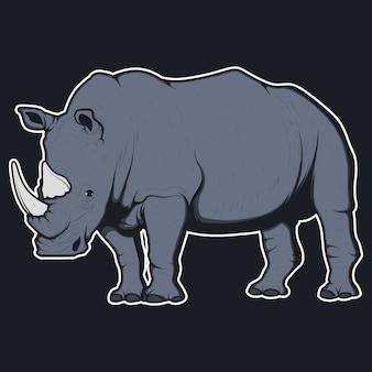 Rhino wzór tła