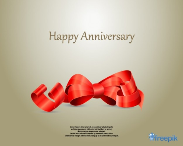 Ribbon szczęśliwa rocznica