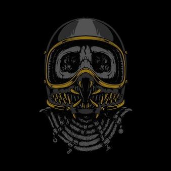 Rider monster horror graficzny ilustracja projekt koszulki