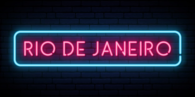 Rio de janeiro neon sign.