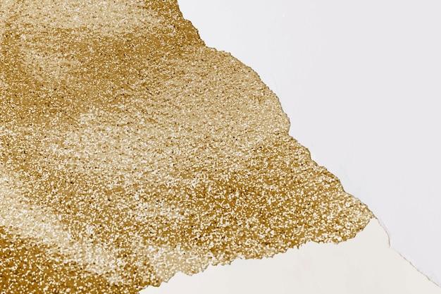 Ripped paper border frame vector gold handmade glittery background