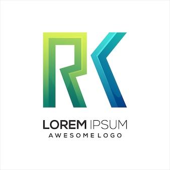 Rk list logo kolorowa ilustracja gradientowa