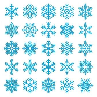 Różne śnieżynkami