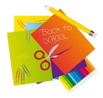 Różne materiały, aby powrócić do szkolnego ilustratora wektorowych