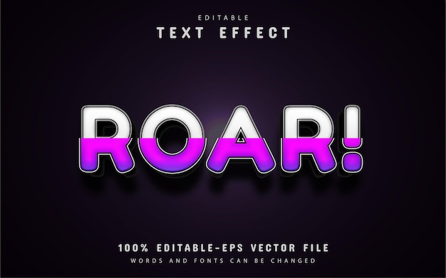 Roar text - fioletowy efekt tekstowy gradientu