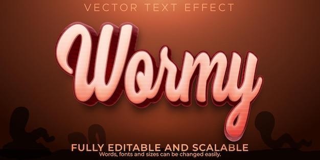 Robaczy efekt tekstowy, edytowalny styl tekstu ogrodowego i biologicznego