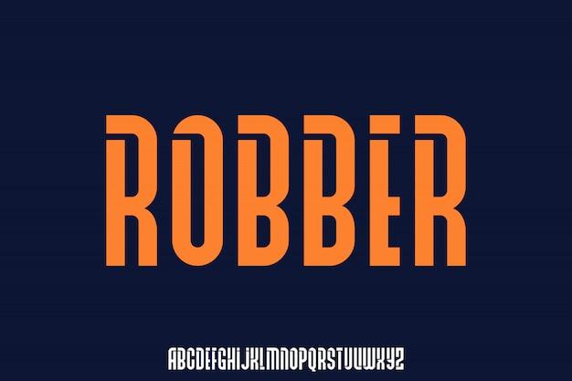 Robber, złoto i nowoczesny font skraplany