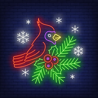 Robin zimowy w neonowym stylu