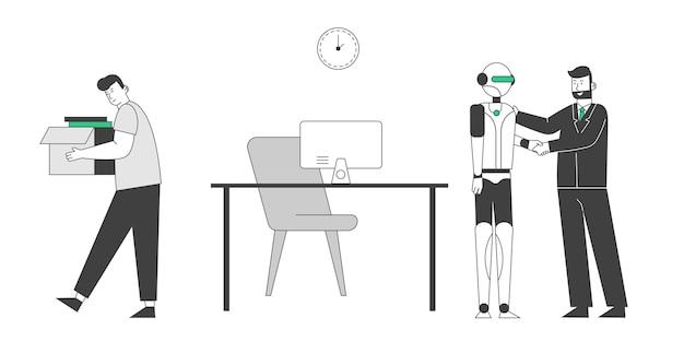 Robot przybył do miejsca pracy zamiast człowieka.