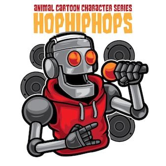 Robot rap ilustracja