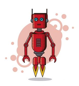 Robot śmieszne kreskówki