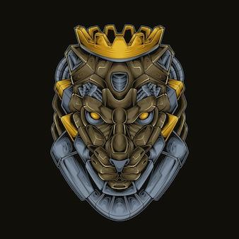 Robot z głową króla pantery