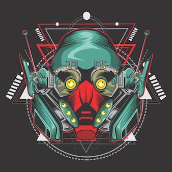 Robot z metalową głową