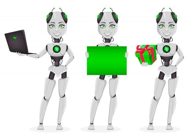 Robot ze sztuczną inteligencją, żeński bot