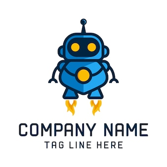 Robota logo szablon wektor