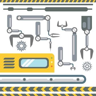 Robotic hands kolekcja maszyn automatycznych produkcja automatyki przemysłowej