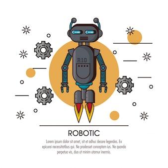 Robotic infografika kreskówka