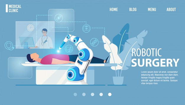 Robotic surgery innowacyjna medycyna strona docelowa