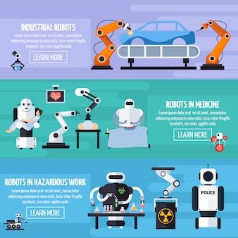Roboty zestaw bannerów