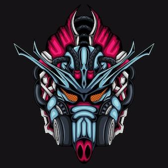 Robotyczny cyberpunk ronin samuraj