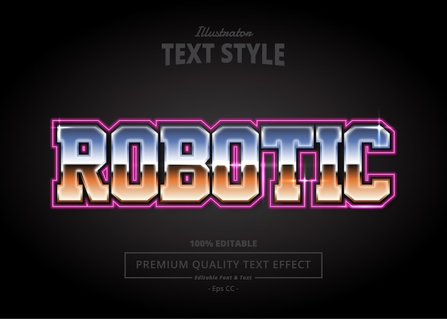 Robotyczny efekt tekstowy programu illustrator