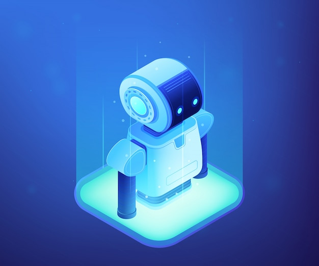 Robotyka technologii pojęcia isometric ilustracja.