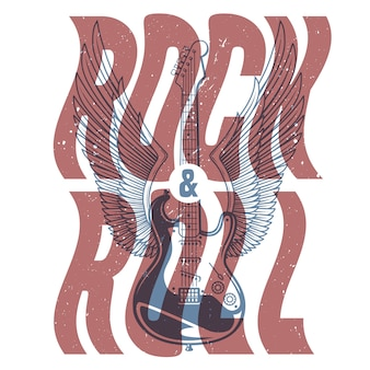 Rock and roll banner