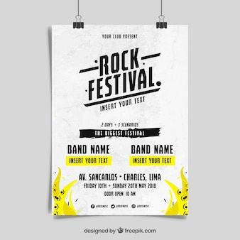 Rock n roll muzyka plakat koncepcja