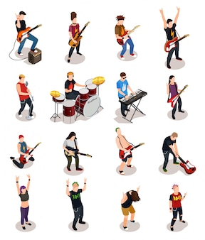 Rock stars isometric people
