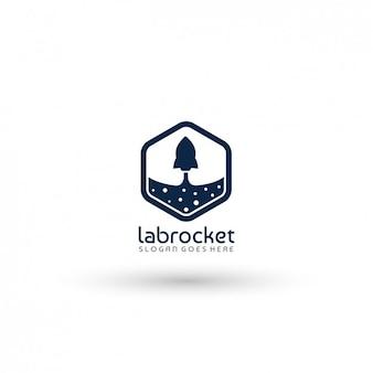 Rocket ship company logo template