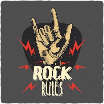 Rockowa ręka