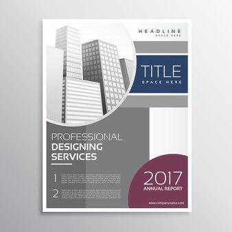 Roczne sprawozdanie biznesowe ulotka projekt w profesjonalnym stylu