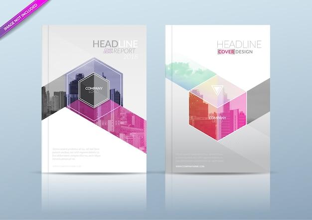 Roczne sprawozdanie obejmuje szablon ulotki broszury.